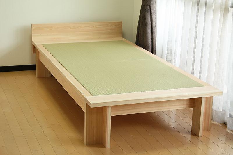 桧と畳のベッド